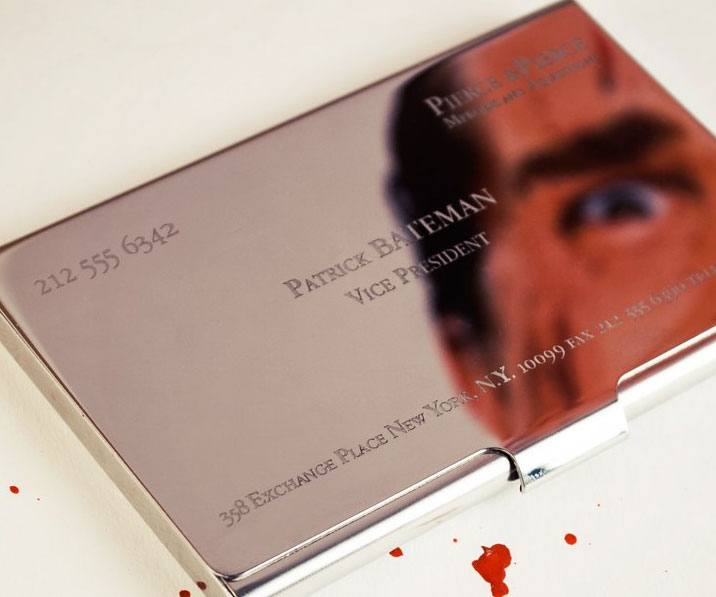 Movie psychos script gods must die american pscyho script gods american psycho business card holder1 reheart Image collections