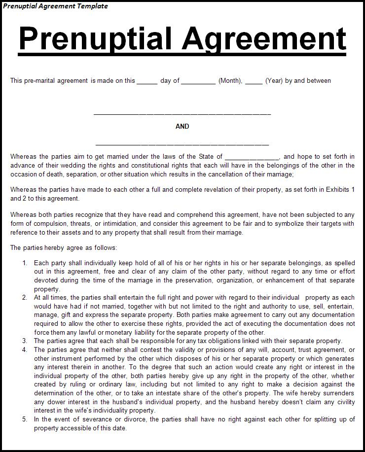 Prenuptial-Agreement-Template